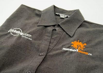 Number1Signs & Printing.com Embroidered Business Shirt