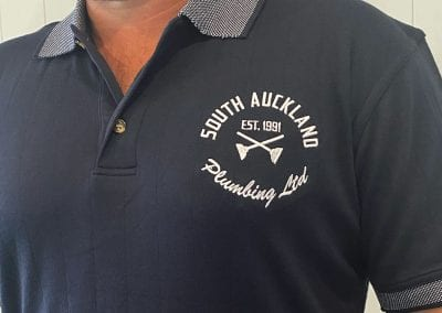 South Auckland Plumbing Embroidered Polo Shirt